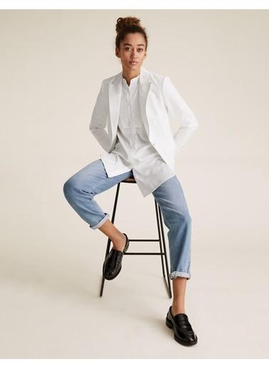 Marks & Spencer Tailored Fit Blazer Ceket Beyaz
